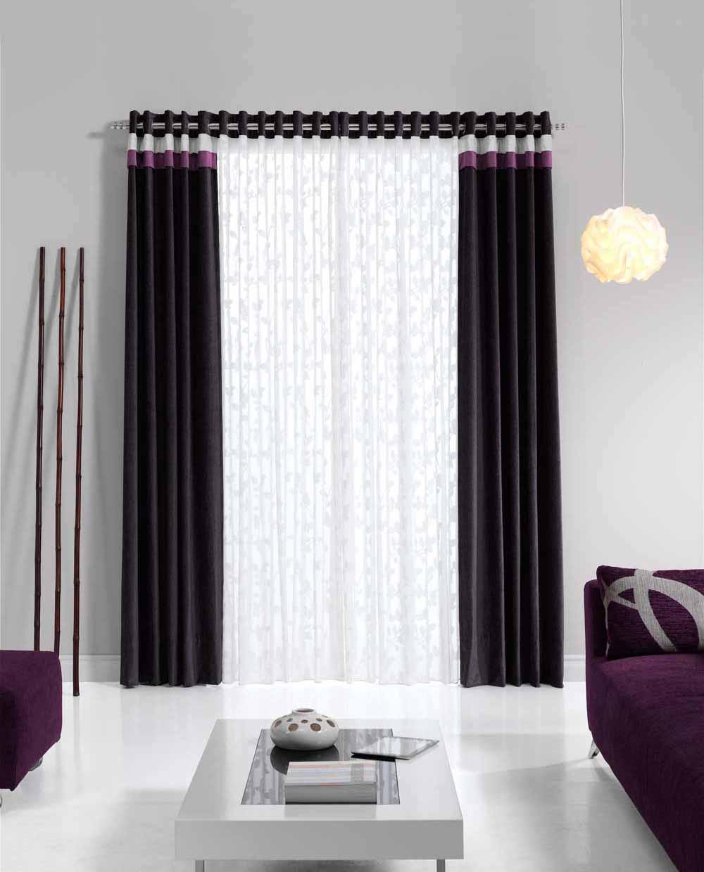 cortina con caídas en barras