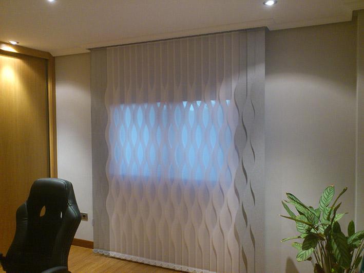 cortina vertical de formas