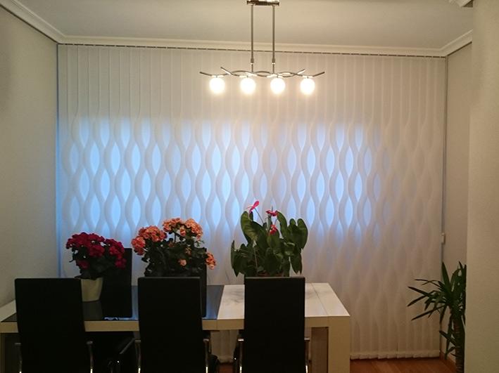 cortinas verticales Decoración Morales