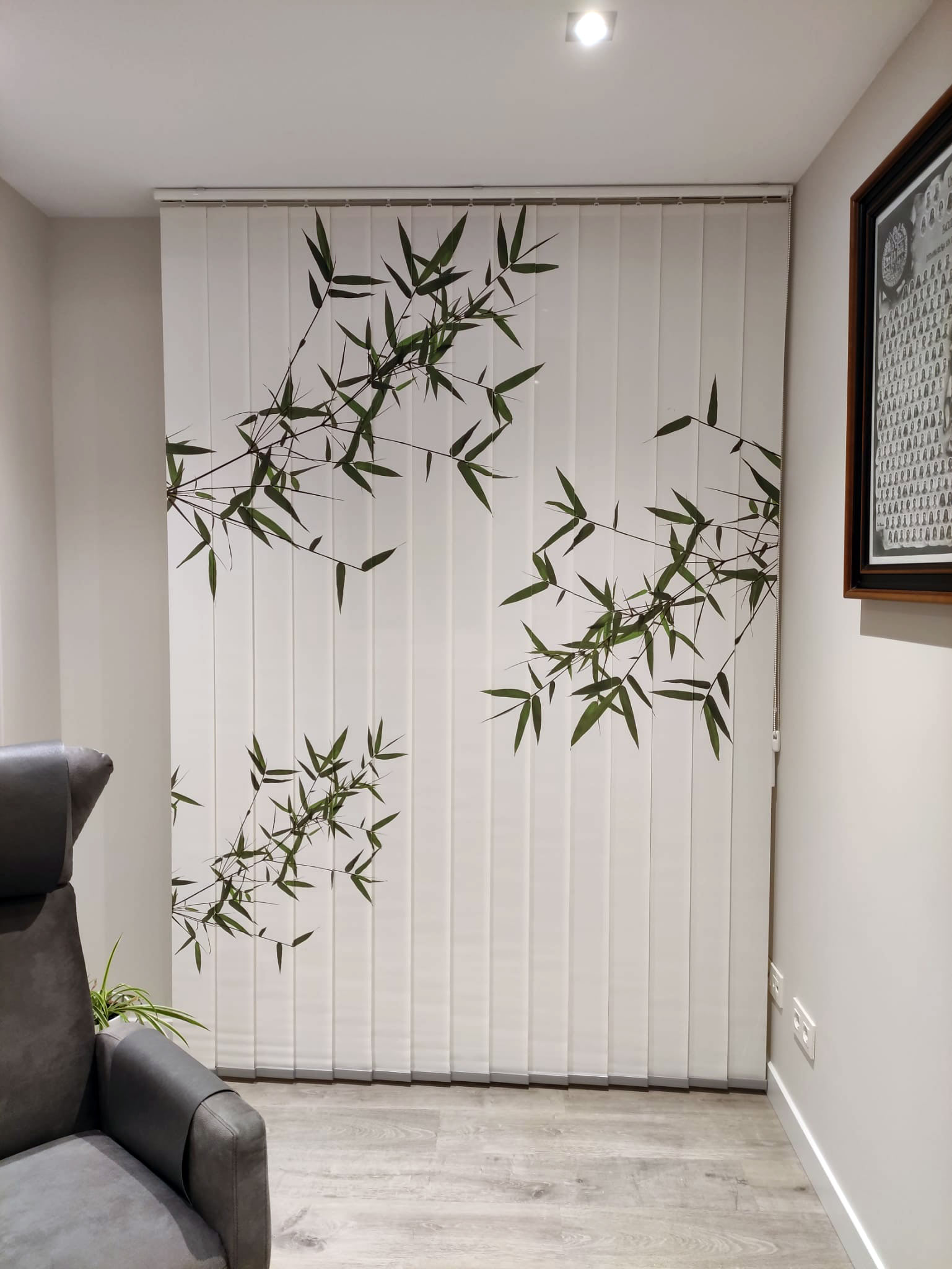 cortina vertical de impresión digital decoración morales