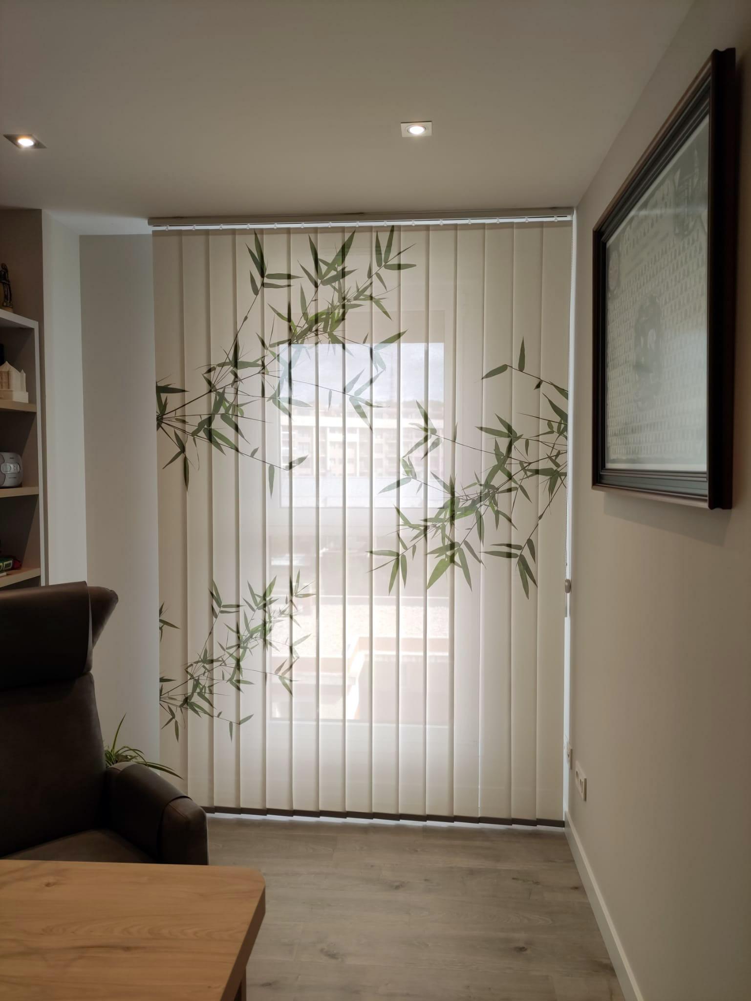 cortina vertical de impresión digital