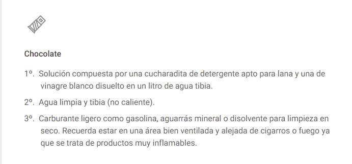 LIMPIEZA EN ALFOMBRAS DE CHOCOLATE