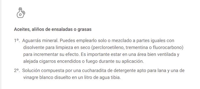 LIMPIEZA EN ALFOMBRAS DE ACEITAS, ALIÑOS...